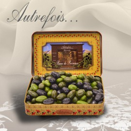Boite décorée Olives au Chocolat 350g