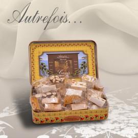 Boite décorée assortiment de Nougats 250g