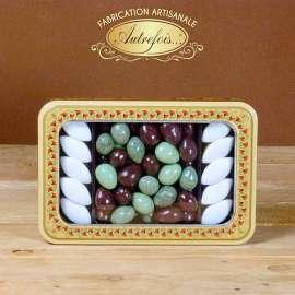 Boite décorée Olives au Chocolat et Calissons
