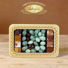 Boite décorée Olives au Chocolat et Caramels