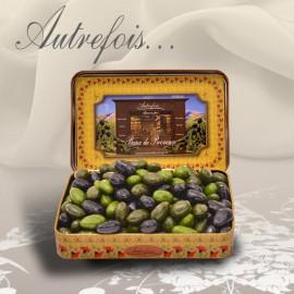 Boite décorée Olives au...