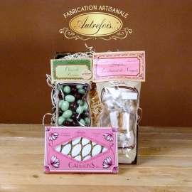 Calissons, Nougats & Olives au Chocolat.