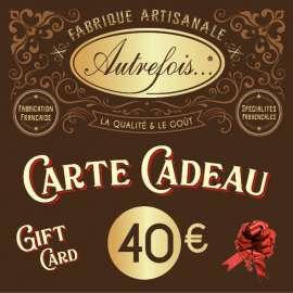 Carte Cadeaux 40€